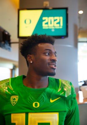 Oregon quarterback Anthony Brown joins the Oregon Media Day as the 2021 season begins.