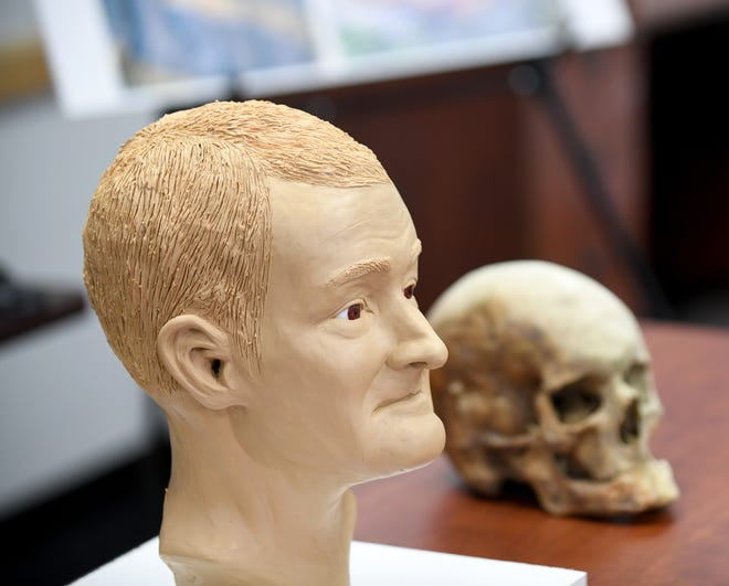 Do you know this man? Investigators are looking for help in finding his identity. This is an artist's forensic reconstruction based on remains found in March 2020 off Sandy Avenue SE.