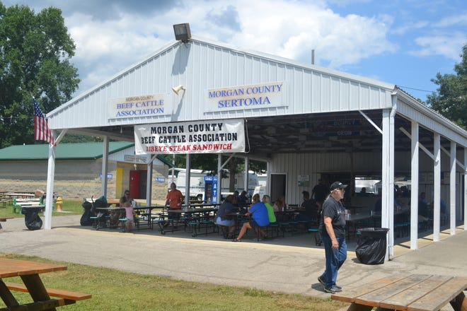 There are a number of different places to eat at the fair, most of which give the money they earn right back to the community through their organizations.