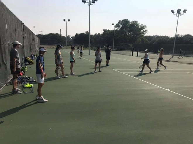 The Stephenville High School team tennis athletes kicked off their practice in preparation for the upcoming season.
