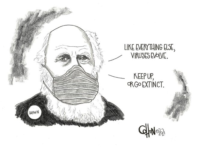 Darwin editorial cartoon