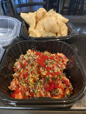 Tuna poke from The Bento Box in Wilmington. Owner Less Grossman is opening a restaurant that specializes in poke.