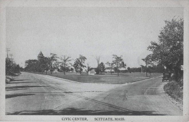 Lawson Common in Scituate is shown in the 1920s.