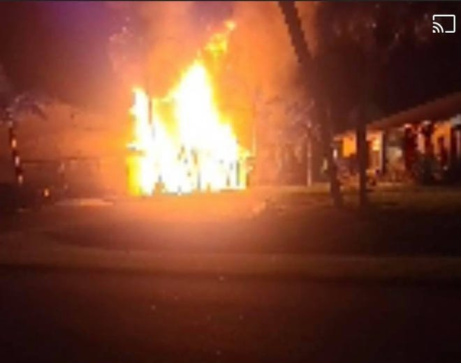 A condo buildingwas left significantly damaged in a residential structure fire late Monday night at640SE 12th Court at the Courtyard in Cape Coral.