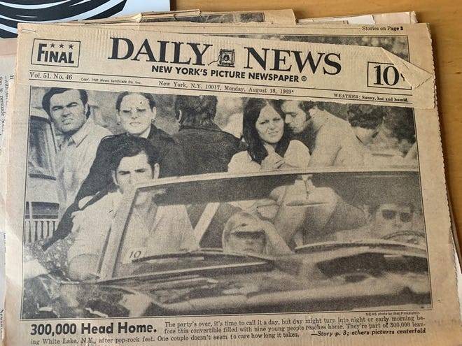 The New York Daily News coverage of the 1969 Woodstock festival.