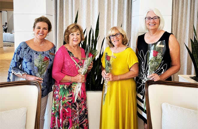 From left, birthday girls Susan Taylor, Laura Geberth, Ann Sepe and Nancy Bethel.