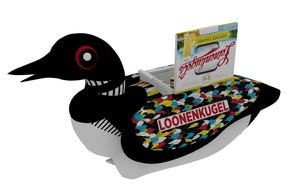 """Leinenkugel's is giving away a """"Loonenkugel,"""" a 5-foot roboticcooler-meets-float that's modeled after a loon, according to a news release."""