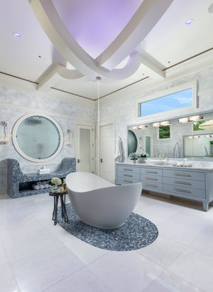 Collins DuPont Design Group's Bonita Bay project, recipient of a Silver Aurora Award for Best Bath Design for a Custom/Spec/One-of-a kind Home (Private Residence).