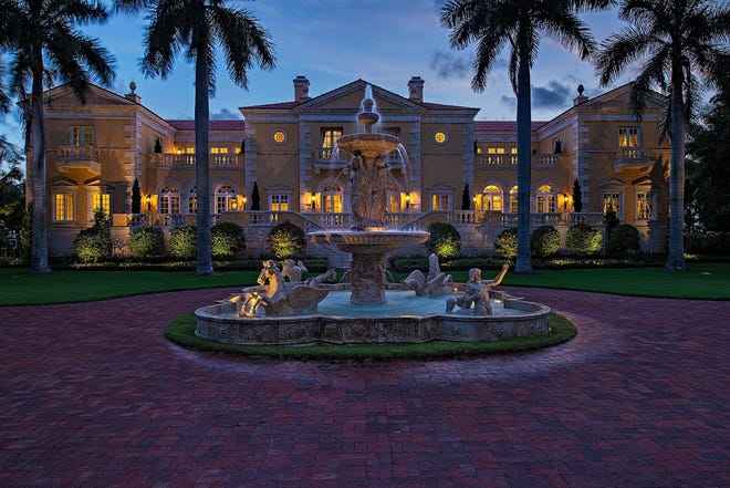 John R. Wood Properties sold this five-bedroom, eight-bath 15,264 square foot Port Royal residence at 3100 Gordon Drive in February 2021 for $39 million.