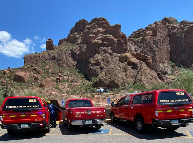 The Phoenix Fire Department responded to Camelback Mountain to search for a missing hiker later identified as Angela Tramonte on July 30, 2021.