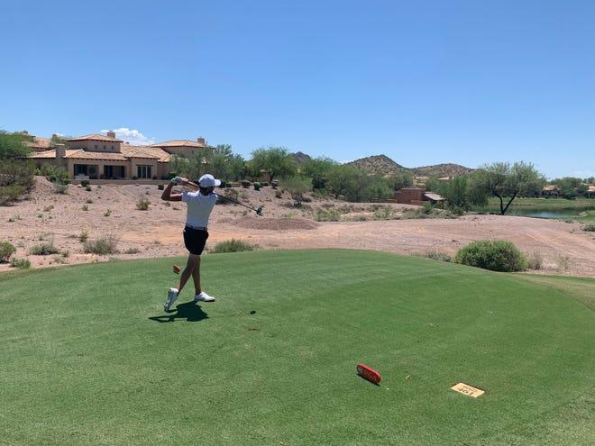 Colton Estevez on hole 18 at the 78th Arizona Open Championship Aug. 2, 2021.