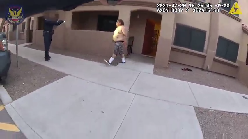 Phoenix police bodycam footage of shooting on July 20, 2021.