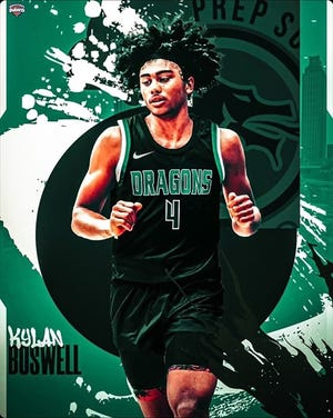 Kylan Boswell, a five-star basketball recruit in the 2023 class, is heading to AZ Compass Prep to play. Photo courtesy of AZ Compass Prep