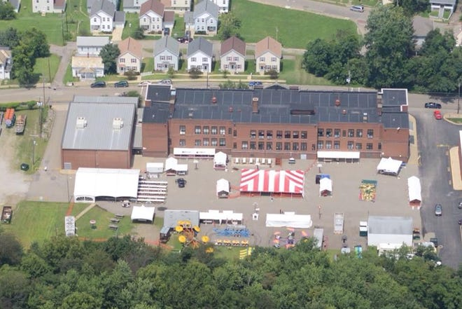 An aerial view of the 2019 St. Nicholas Festival behind Bishop Fenwick School. The annual summer festival returns in 2021 with two nights of entertainment this Friday and Saturday.