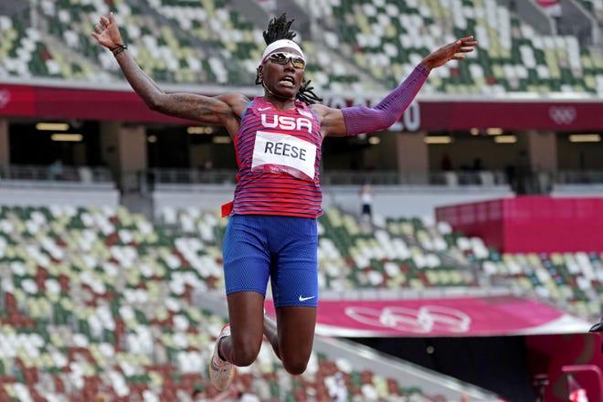 L'Américaine Brittney Reese a remporté des médailles au saut en longueur féminin lors de trois Jeux olympiques consécutifs.