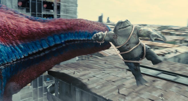 """King Shark (voiced by Sylvester Stallone"""") is the true star of """"The Suicide Squad."""""""
