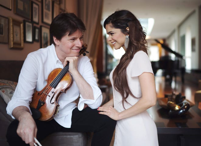 Violinist Joshua Bell and soprano Larisa Martinez, married in 2019, will perform together in Akron on Feb. 8, 2022, for Tuesday Musical.