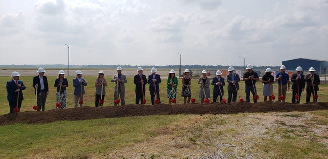 Local, tribal, state and federal leaders joined project partners on Wednesday, August 4 for a groundbreaking ceremony for the new Global Transportation and Industrial Park of Oklahoma at the Ardmore Industrial Airpark.