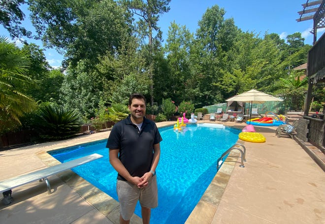 Joel Haywood began listing his pool in Columbia County on Swimply less than a month ago. He has since been booked up multiple times.
