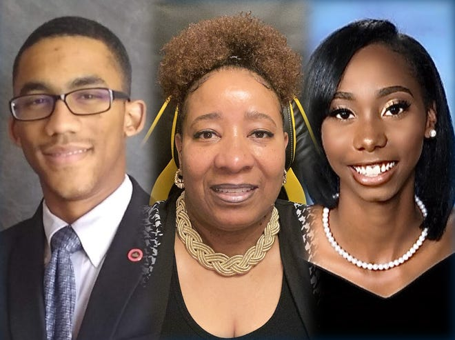 Voorhees College senior Joshua Gayle of Augusta, Ga., left, Paine College senior LeShawn Doolittle of Augusta, Ga., center, and Paine College sophomore Madison Stafford of Jonesboro, Ga., were named 2021 HBCU Scholars by The White House Initiative on Historically Black Colleges and Universities.