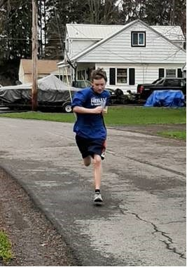 Phelan Fullager, 13, posted his first 5K finish in the 2020 Heels Up for Healing virtual run. The event raised more than $9,000 for activities and exercise programs offered at the Homestead at Soldiers & Sailors Memorial Hospital. Check In/Race Day Registration for the 2021 race: 8 a.m. 5K Run/Walk: 9 a.m. at the hospital Medical Arts Building, 418 N. Main St., Penn Yan. Preregister for in-person or virtual at: Heels Up For Healing 5K (runsignup.com).