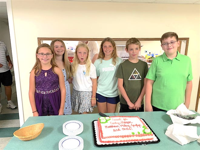 The newest members of Bluff Point United Methodist Church. Meet and welcome Harper, Cady, Miley, Jaylyn, Christopher, and Matthew.