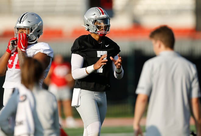 C.J. Stroud (7) is perceived to be the front-runner to replace Justin Fields.