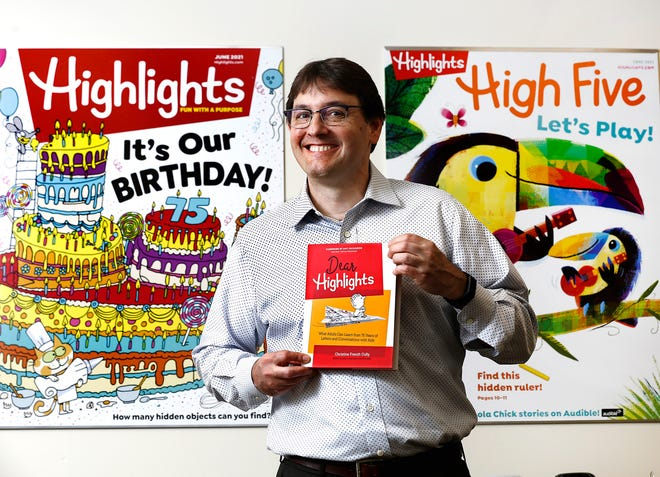 The CEO of Highlights for Children, Kent Johnson, has carried on the mission of his great-grandparents, who started the magazine. Highlights is celebrating its 75th anniversary.