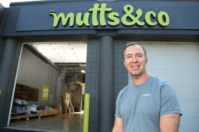 Mark Vitt is co-owner of the Mutts & Co. location in Grove City, which is one of the few pet-supply stores to feature a drive-thru.
