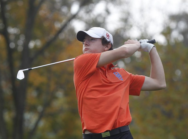 Senior Mitch Perdue is one of two returnees who competed in the Division I state tournament last season for Orange. The Pioneers won their first league and district championships last fall.