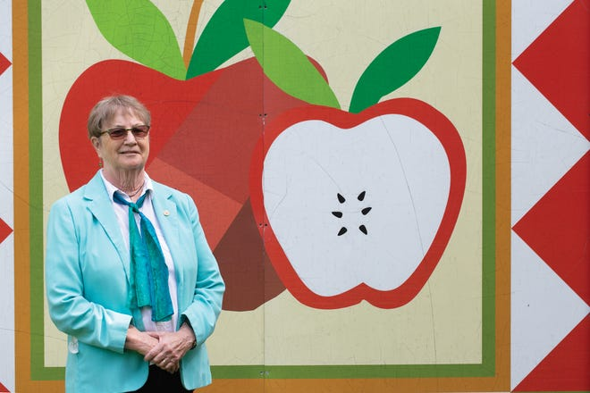 Betsy Coffman at the Johnny Appleseed Educational Center and Museum