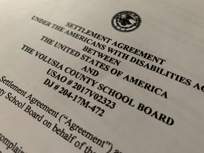 A 19-page settlement agreement with the U.S. Department of Justice states that the Volusia County school district was discriminating against students with autism, and provides specific steps for it to correct its course.
