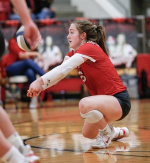Glen Rose senior libero Cam Hinton led the Lady Tigers in digs (569) and service aces (54) last year.