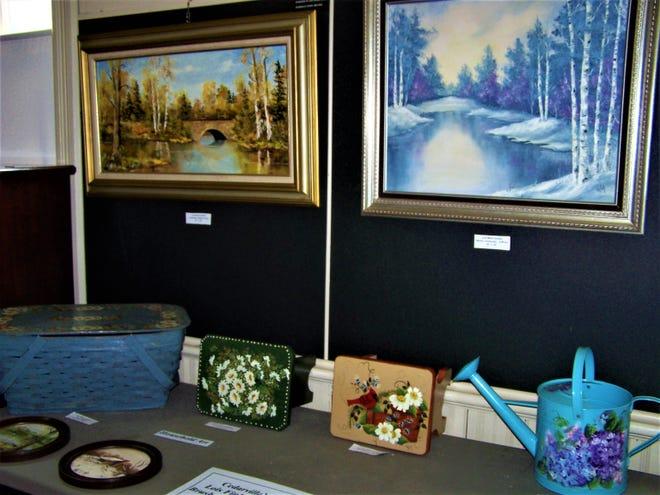 The CedarvilleArea Historical Society featured a Lois Wyka exhibit.