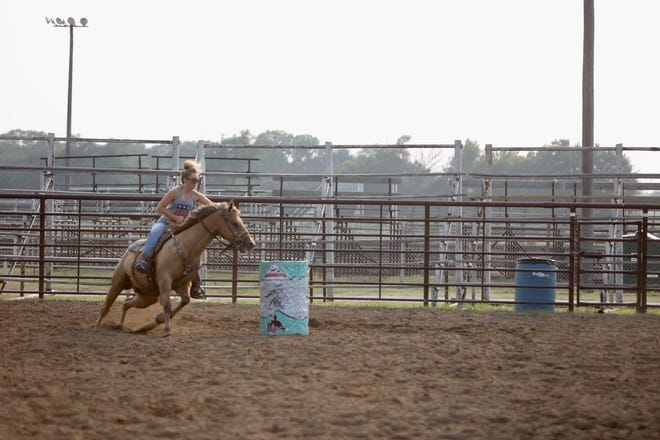 """The Newton Saddle Club hosted the """"Beat the Heat"""" barrel race series Aug. 2."""