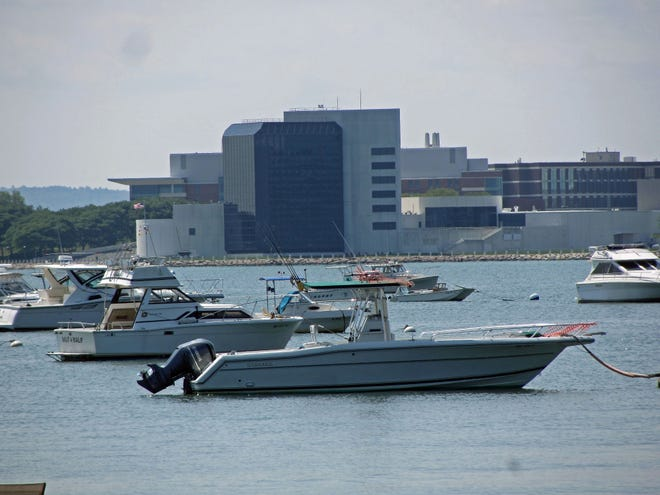 The JFK Library is among the top attractions for people visiting Dorchester. This is the view of the library from the South Boston Yacht Club.