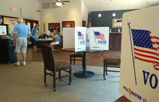 A polling location on Horseshoe Bend.