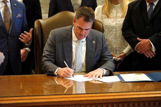 """To go along with the ceremonial signing of Senate Bill 608, which creates the """"Filmed in Oklahoma Act of 2021,"""" Gov. Kevin Stitt issued a proclamation Aug. 3 declaring it """"Film Day"""" in the Sooner State."""