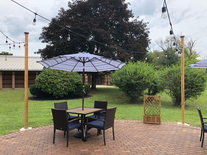 An outdoor dining area has been added to Hampton Winds, which re-opened at Northampton Community College's Bethlehem campus on Wednesday, Aug. 4, 2021.