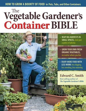"""""""The Vegetable Gardener's Container Bible,"""" by Vermont's Ed Smith, describes a two-bucket system for self-watering containers."""