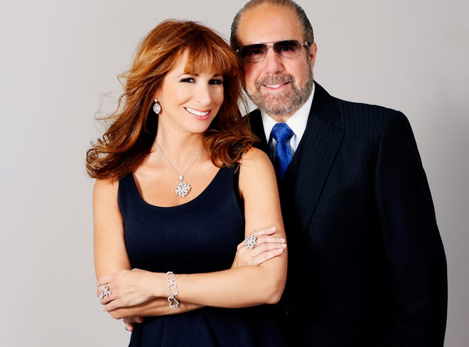 'Real Housewives of New York City' reality TV celebrity and businesswoman, Jill Zarin, with husband Bobby.