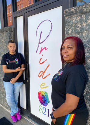 Pride 821 on Cherry Avenue NE in downtown Canton opened earlier this summer. The club offers drag shows and other entertainment. Pride 821 owner Kim Jackson, left, is pictured with Melanie English, Jackson's girlfriend and business partner.