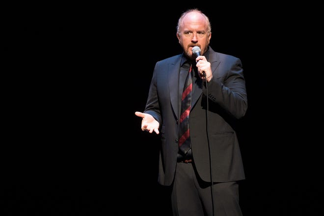 Comedian Louis C.K., shown in on April 30, 2016, at the David Lynch Foundation Benefit for Veterans with PTSD at New York City Center, will return to the Coronado Performing Arts Center in Rockford on Sept. 26, 2021.