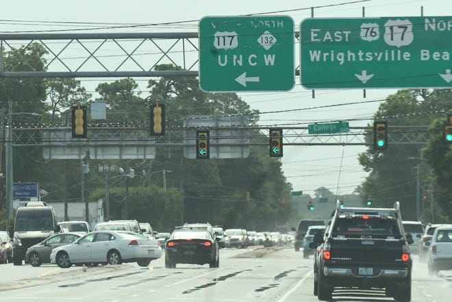 The intersection of College Road and Oleander Drive is one of the busiest intersection in the Wilmington area seeing 65,000 vehicles per day.