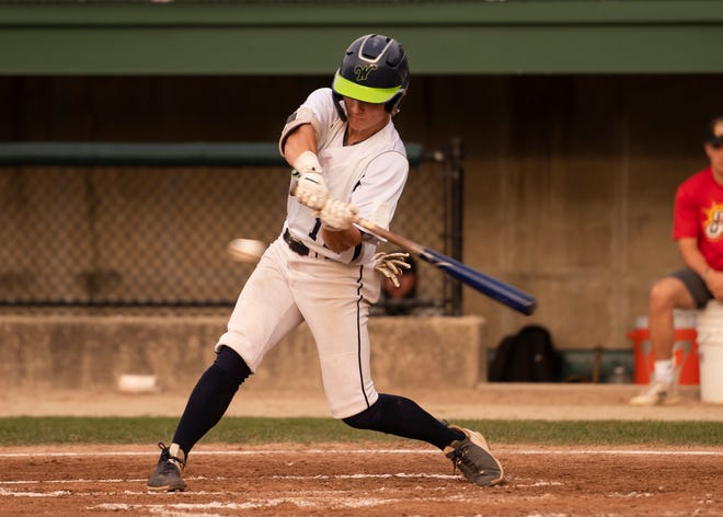 Cam Caraher had two hits, scored twice and had an RBI in the Bravehearts' Tuesday night win at Pittsfield.