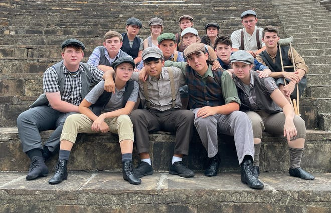 """Disney's """"Newsies"""" is coming to the Mort Glosser Amphitheatre this month, presented by CharACTers Children's Theatre, Encore Productions and Gadsden Parks and Recreation."""