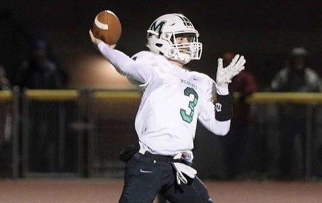 Mulvane quarterback Mason Ellis