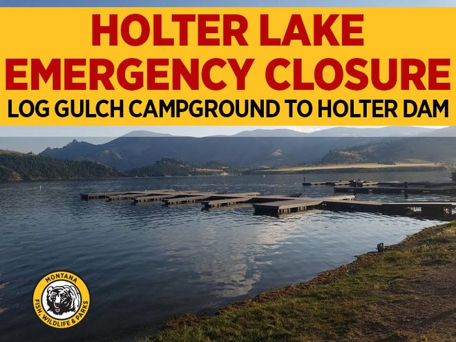 Holter Lake on the Missouri River just east of Wolf Creek has been closed to recreationalists due to fire suppression activities