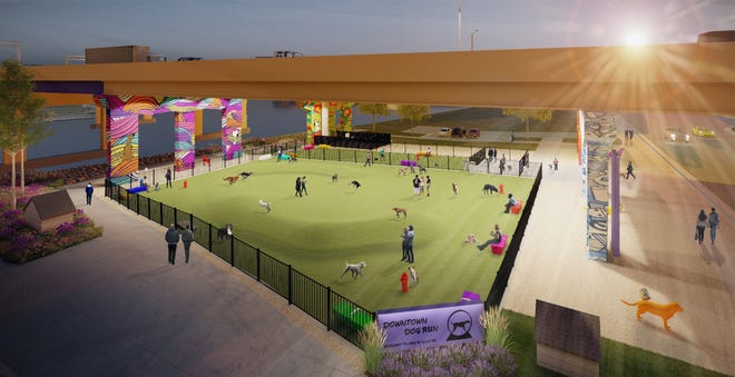 A dog park to be located beneath I-794 on downtown Milwaukee's west side just won a $25,000 grant.