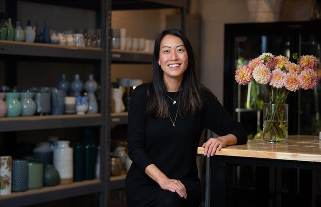 Rachel Penn, pictured here Wednesday, August 4, 2021, founded Lillian's Floral Studio in Nashville, Tenn., to honor her daughter, Lillian Grace Penn, who was born premature and died hours after birth.